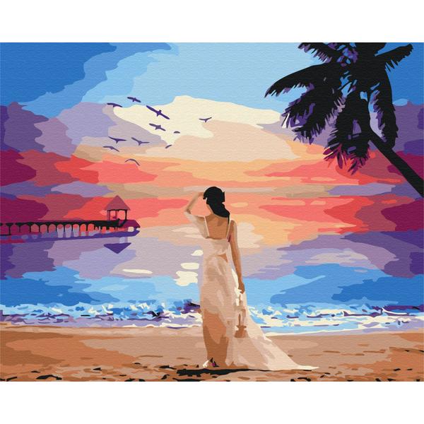 Картина по номерам Пейзажи - Тропический рассвет