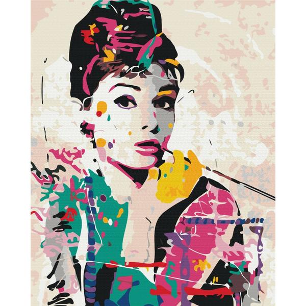 Картина по номерам Люди на картинах - Одри Хепберн