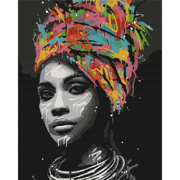 Картина по номерам Люди на картинах - Афро шик