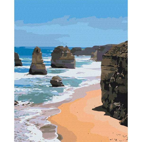Картина по номерам Природа - Морские скалы