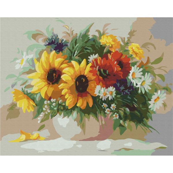 Картина по номерам Цветы - Солнечный натюрморт