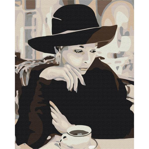 Картина по номерам Люди на картинах - Леді з кавою