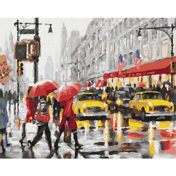 Картина по номерам Города - Дождливая Америка