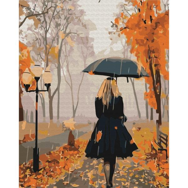 Картина по номерам Люди на картинах - Незнайомка восени