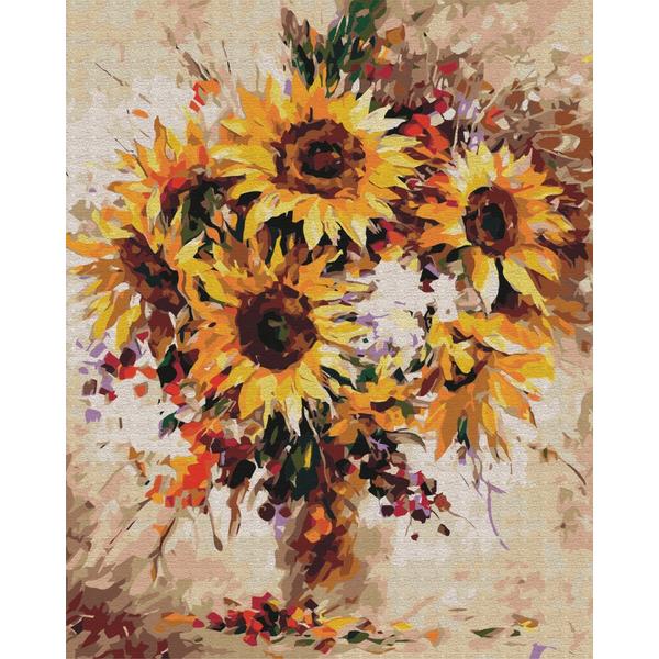 Картина по номерам Цветы - Натюрморт з соняшниками