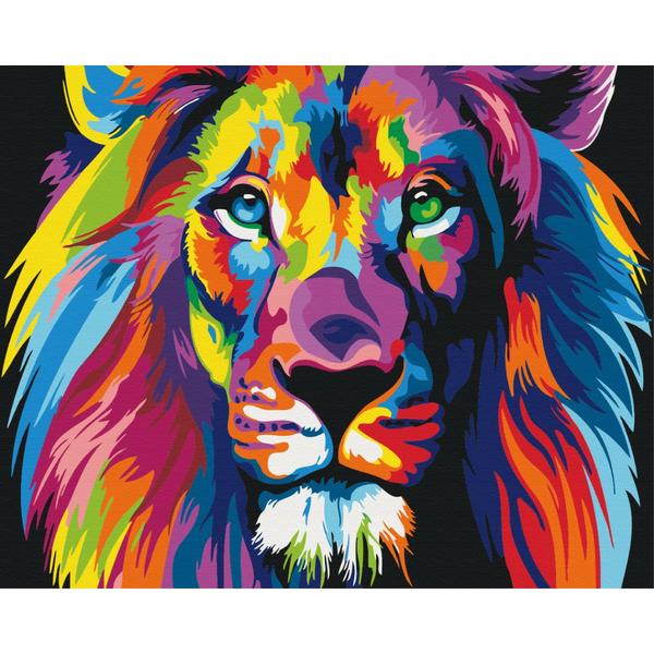 Картина по номерам Поп-арт - Веселковий лев