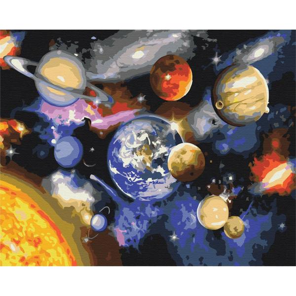 Картина по номерам Космос - Парад з планет
