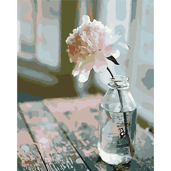 Картина по номерам Цветы - Витончений піон