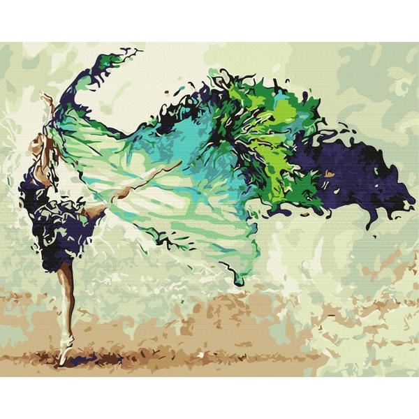 Картина по номерам Люди на картинах - Вдохновение в танце