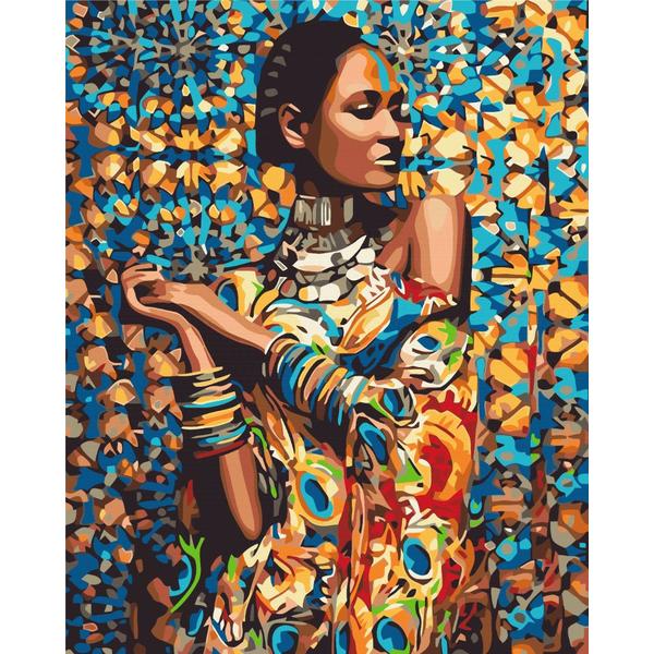 Картина по номерам Люди на картинах - Принцеса Зімбабве