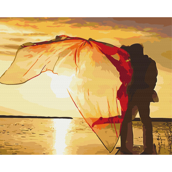 Картина по номерам Романтика - Двое на закате