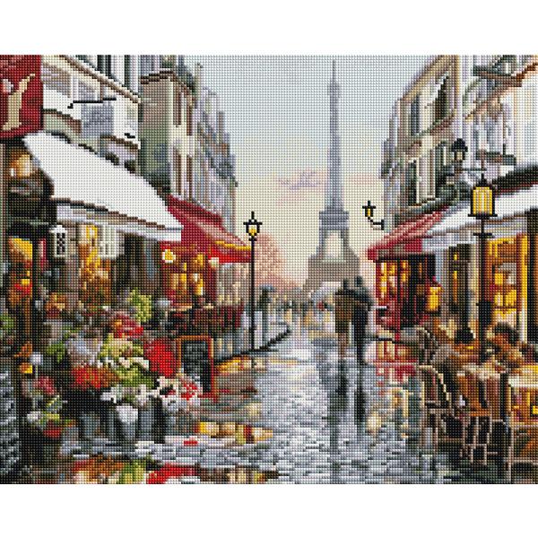 Алмазная мозаика 40х50 - Дождливый Париж