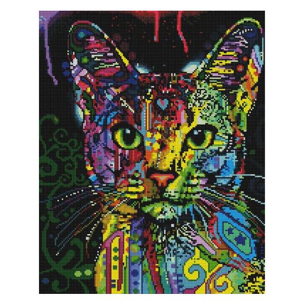 Алмазная мозаика 40х50 - Барвистий кіт