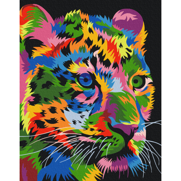 Картина по номерам Поп-арт - Плямистий леопард