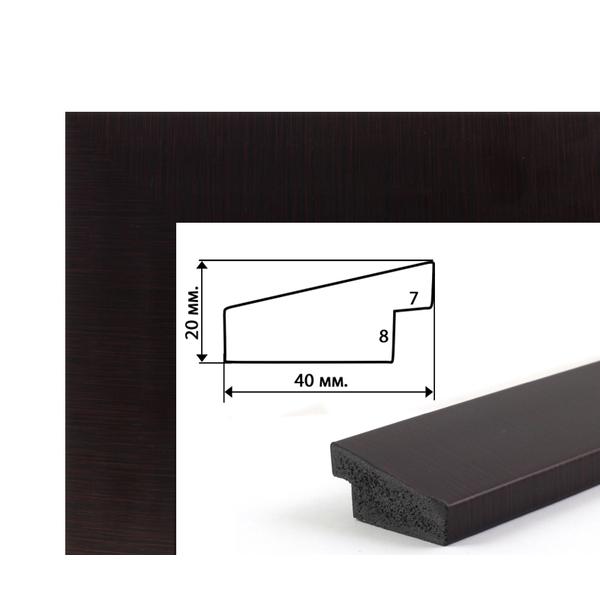 Багетные рамки - Багетная рамка (вишня, 4 см) 40х50