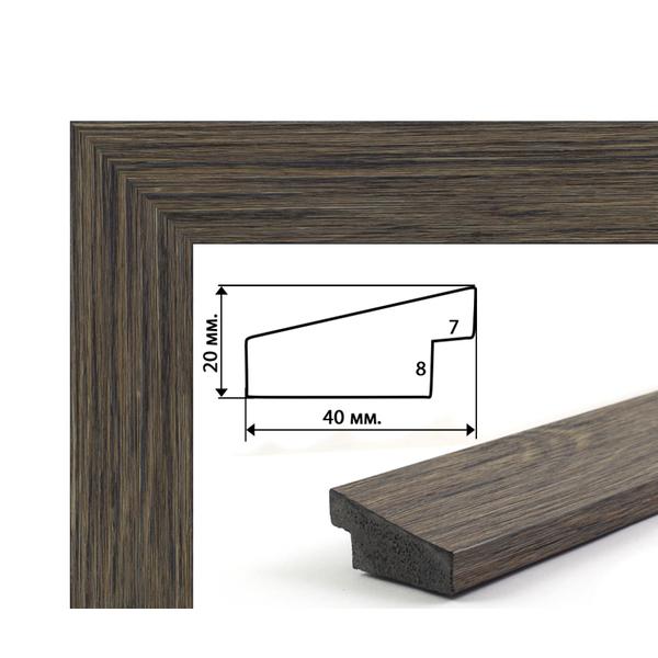 Багетные рамки - Багетная рамка (рельефное дерево, 4 см) 40х50