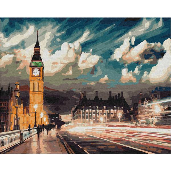 Картина по номерам Города - Сумерки над Лондоном