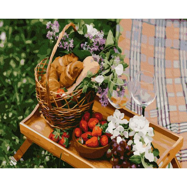 Картина по номерам Натюрморты - Романтический пикник