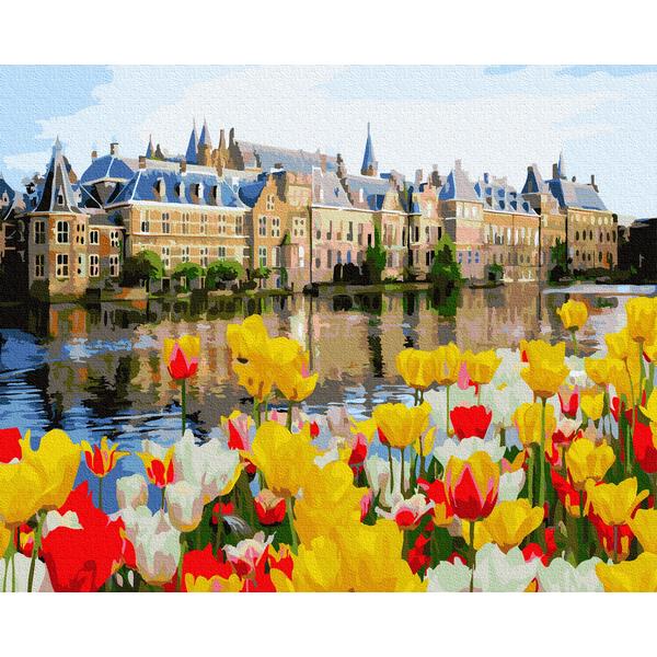 Картина по номерам Города - Дворец в тюльпанах