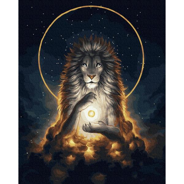 Картина по номерам Животные, птицы и рыбы - Царь мира