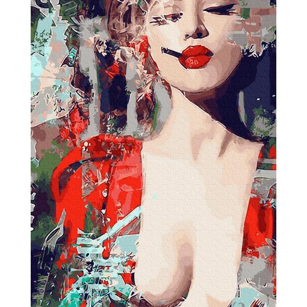 Картина по номерам Люди на картинах - Яркий женственный арт