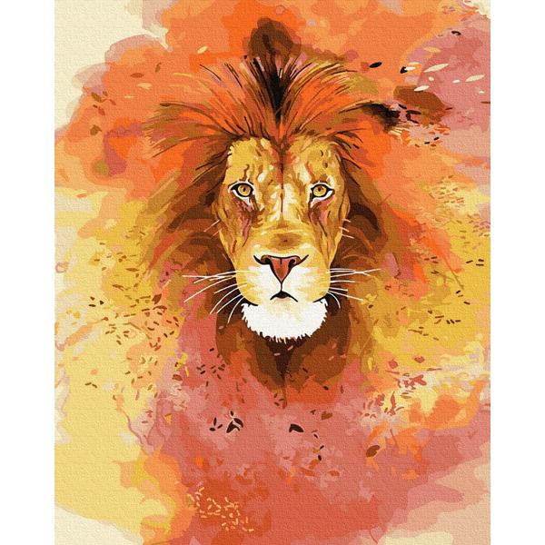 Картина по номерам Поп-арт - Яскравий лев