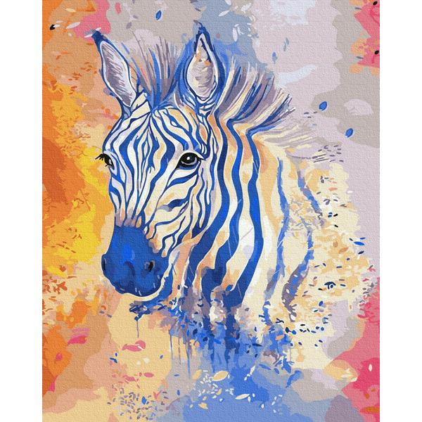 Картина по номерам Поп-арт - Яскрава зебра