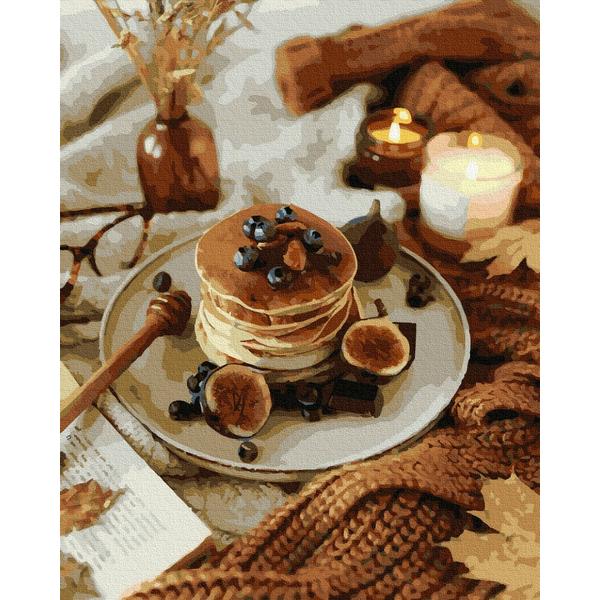 Картина по номерам Натюрморты - Осенние панкейки