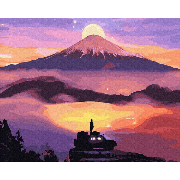 Картина по номерам Природа - Восход солнца в горах
