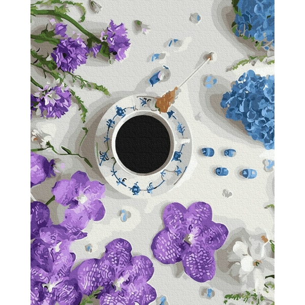 Картина по номерам Натюрморты - Фіалкова кава