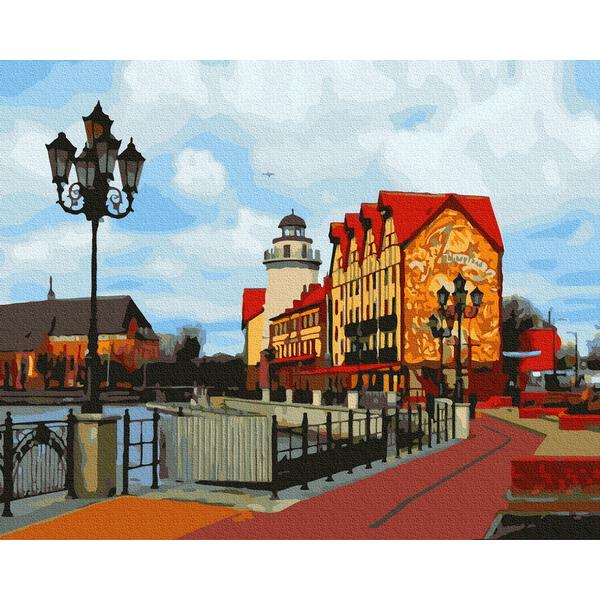 Картина по номерам Города - Улица шведского городка