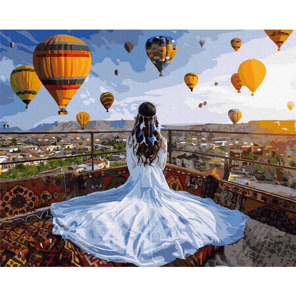 Картина по номерам Пейзажи - Мрійниця в Каппадокії