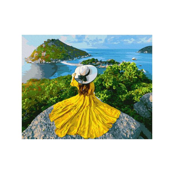 Картина по номерам Люди на картинах - Дівчина-сонце