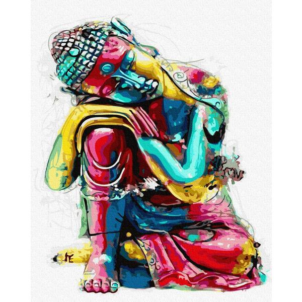 Картина по номерам Поп-арт - Замислений Будда
