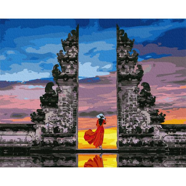 Картина по номерам Люди на картинах - Мандрівниця на Балі