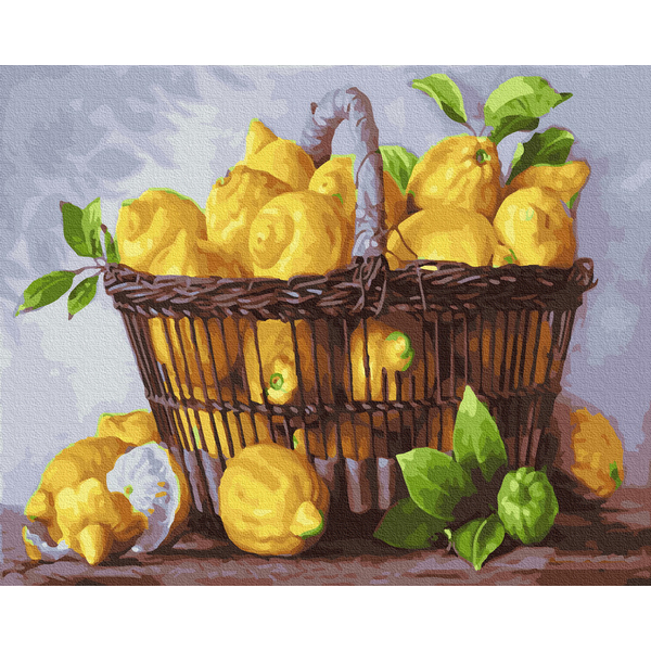 Картина по номерам Натюрморты - Лимонная корзина