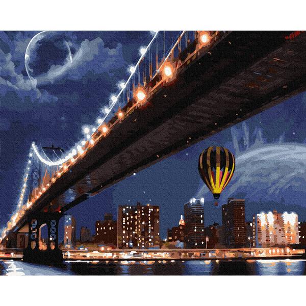 Картина по номерам Города - Огни ночного города