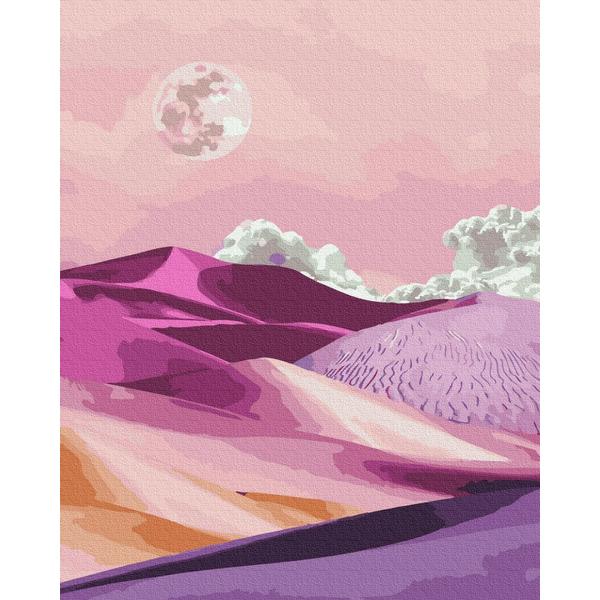 Картина по номерам Пейзажи - Розовый рассвет