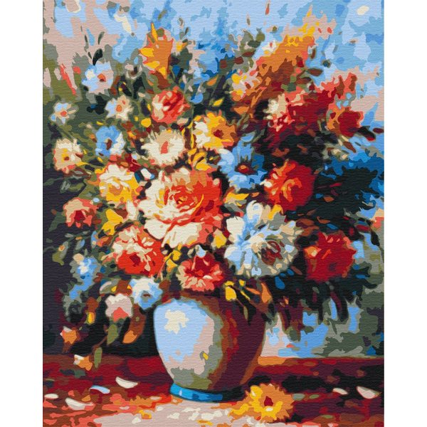 Картина по номерам Цветы - Роскошный букет в вазе