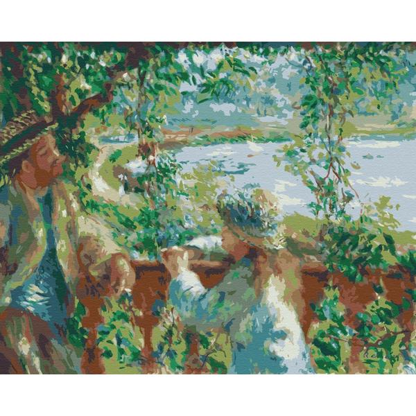 Картина по номерам Репродукции художников - Возле озера. Пьер Огюст Ренуар