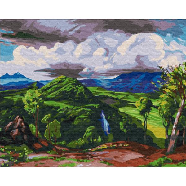 Картина по номерам Репродукции художников - Долина Пихуамо. Доктор Атл, Херардо Мурильо