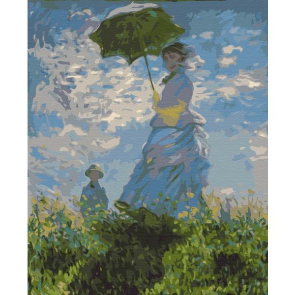 Картина по номерам Репродукции художников - Жінка з парасолькою. Клод Моне