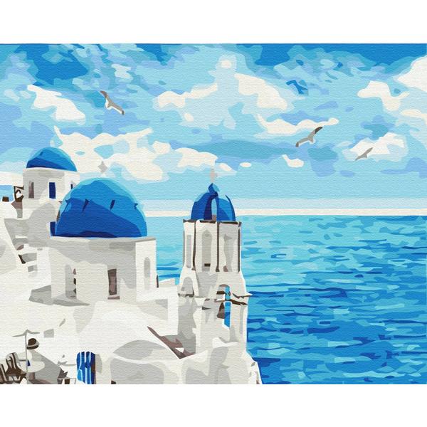Картина по номерам Города - Облака Санторини