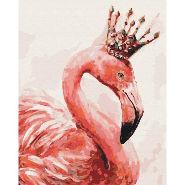 Картина по номерам Животные, птицы и рыбы - Королівський фламінго
