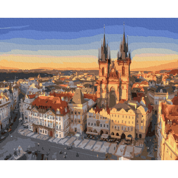 Картина по номерам Города - Панорама на Прагу
