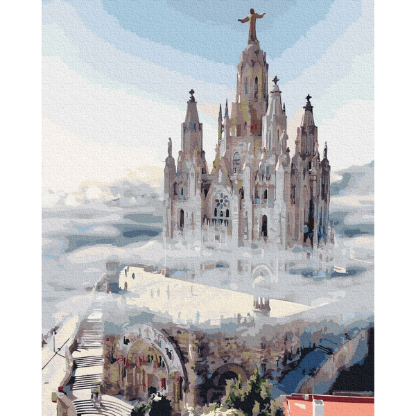 Картина по номерам Пейзажи - Туманний замок