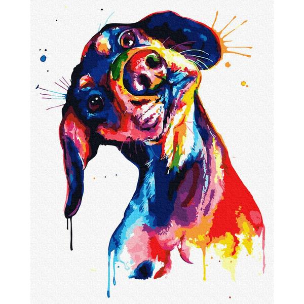 Картина по номерам Поп-арт - Барвистий пес