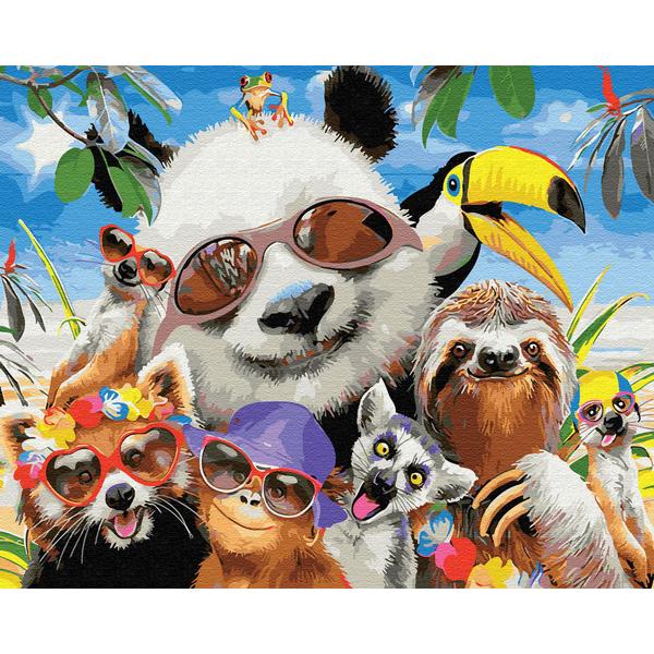 Картина по номерам Животные, птицы и рыбы - Тропические животные