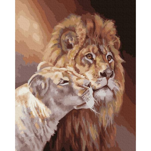 Картина по номерам Животные, птицы и рыбы - Пара левів