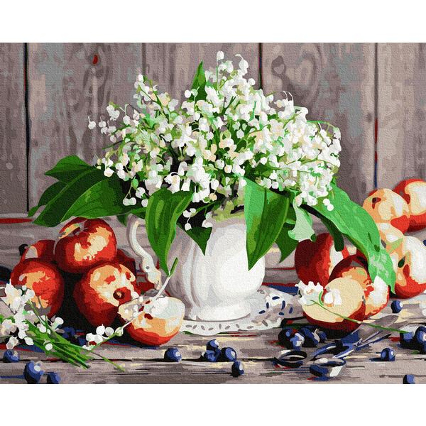 Картина по номерам Цветы - Букетик ландышей